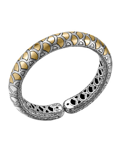 Naga Gold & Silver Flex Cuff, Slim 11.5mm, Size M