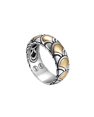 Naga Gold & Silver Band Ring, Size 7