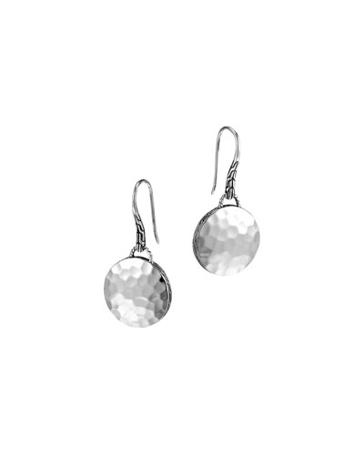 Palu Silver Round Drop Earrings