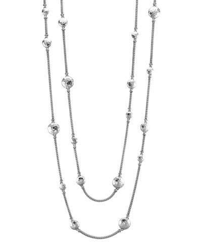 Palu Silver Disc Stations Sautoir Necklace, 36