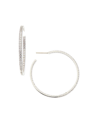 3.4 TCW Cubic Zirconia Hoop Earrings