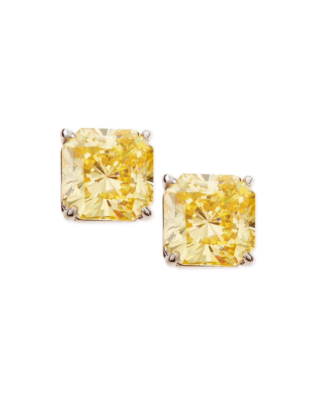 5.0 TCW Canary Cubic Zirconia Stud Earrings