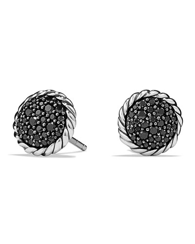 Chatelaine Pave Earring with Black Diamonds