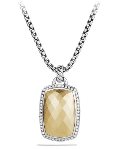 Albion Pendant with Gold and Diamonds