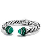 Renaissance Reverse-Set Bracelet with Green Onyx