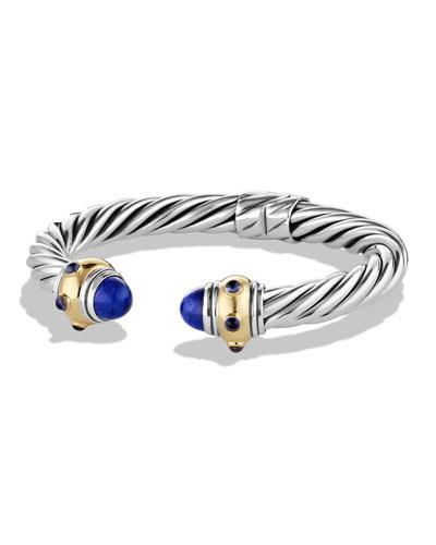 Renaissance Bracelet with Lapis, Iolite, and Gold