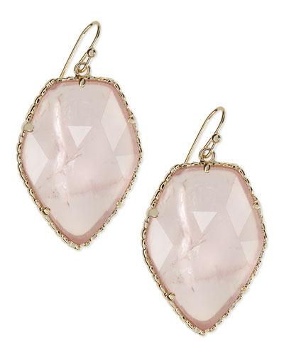 Corley Earrings, Rose Quartz