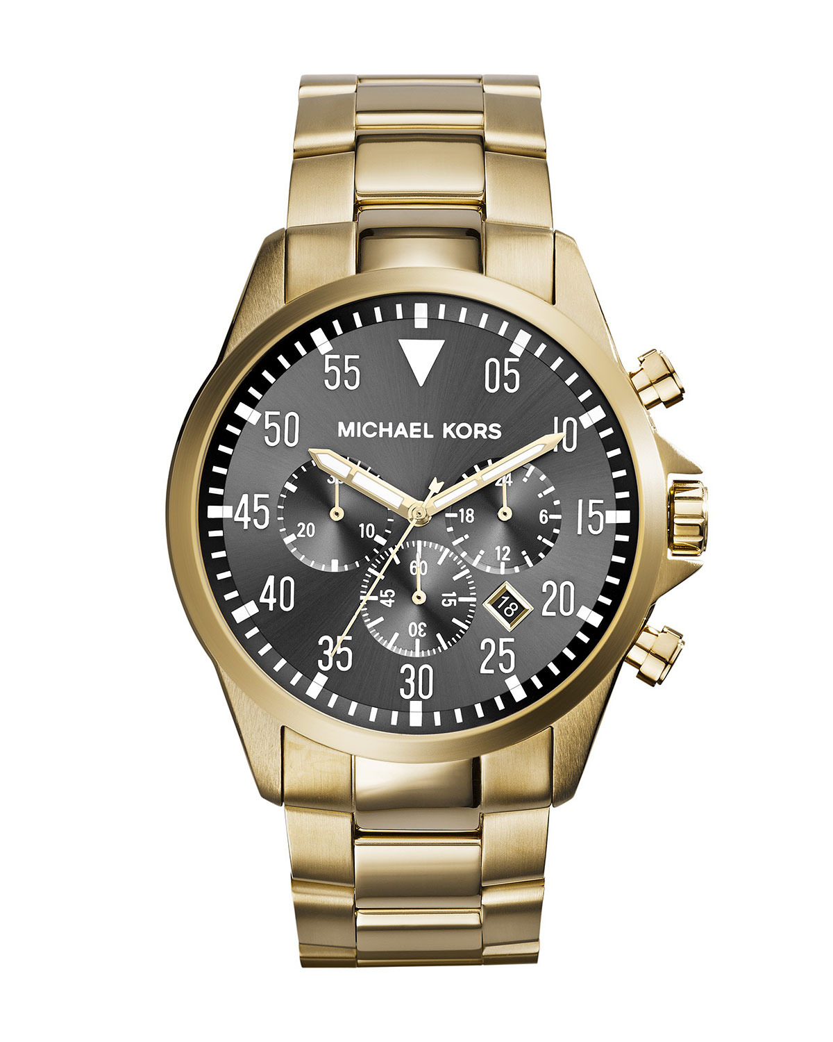 Oversize Golden Stainless Steel Gage Chronograph Watch