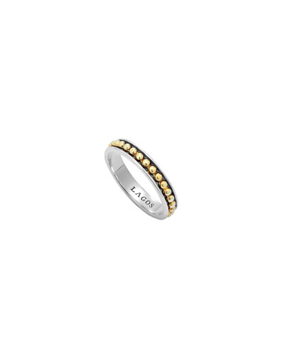 3mm Stackable Silver & 18k Enso Ring