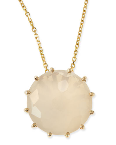 12mm Round Moonstone Pendant Necklace