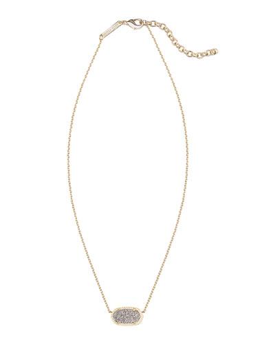 Elisa Gunmetal Druzy Necklace