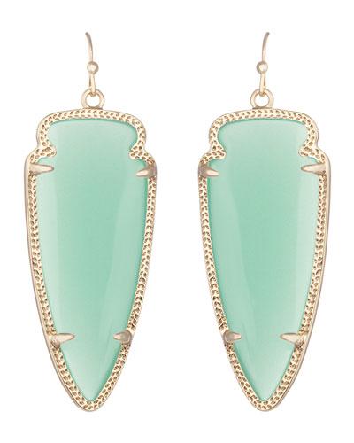 Skylar Earrings, Chalcedony