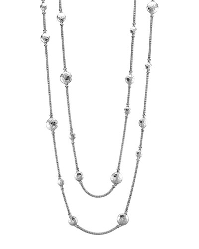 Palu Silver Disc Stations Sautoir Necklace, 72