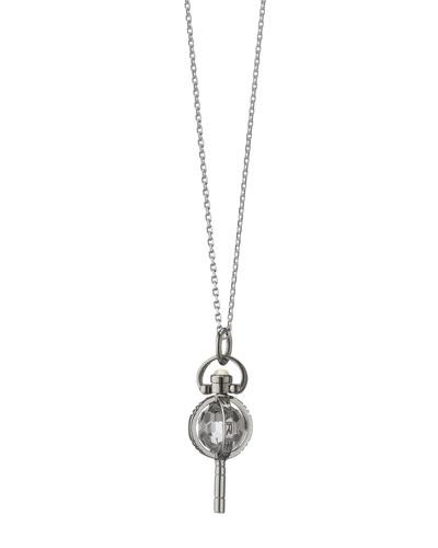 Mini Silver Carpe Diem Pendant Necklace, 17