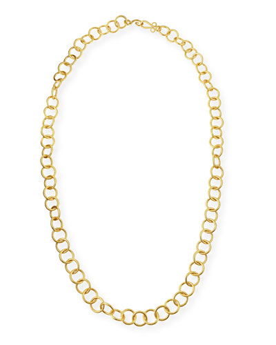 24k Gold-Plated Bronze Classic Link Necklace, 42