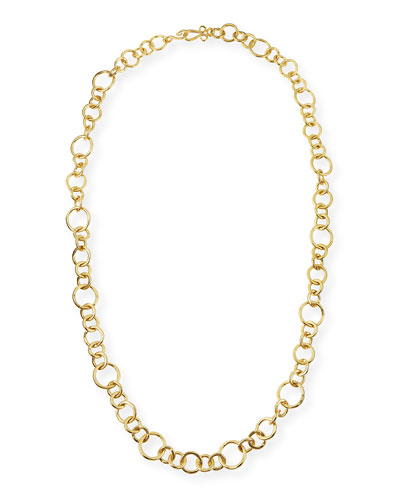 24k Gold-Plated Bronze Coronation Necklace, 42