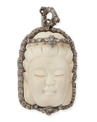 Bone Buddha Enhancer with Champagne Diamonds