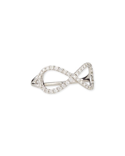 18k White Gold Diamond Infinity Ring
