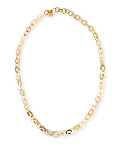 Mini Mara Light Horn Necklace, 35