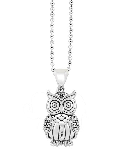 Rare Wonders Owl Pendant Necklace