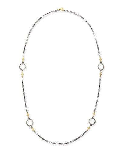 Midnight Heraldry Necklace with Diamonds