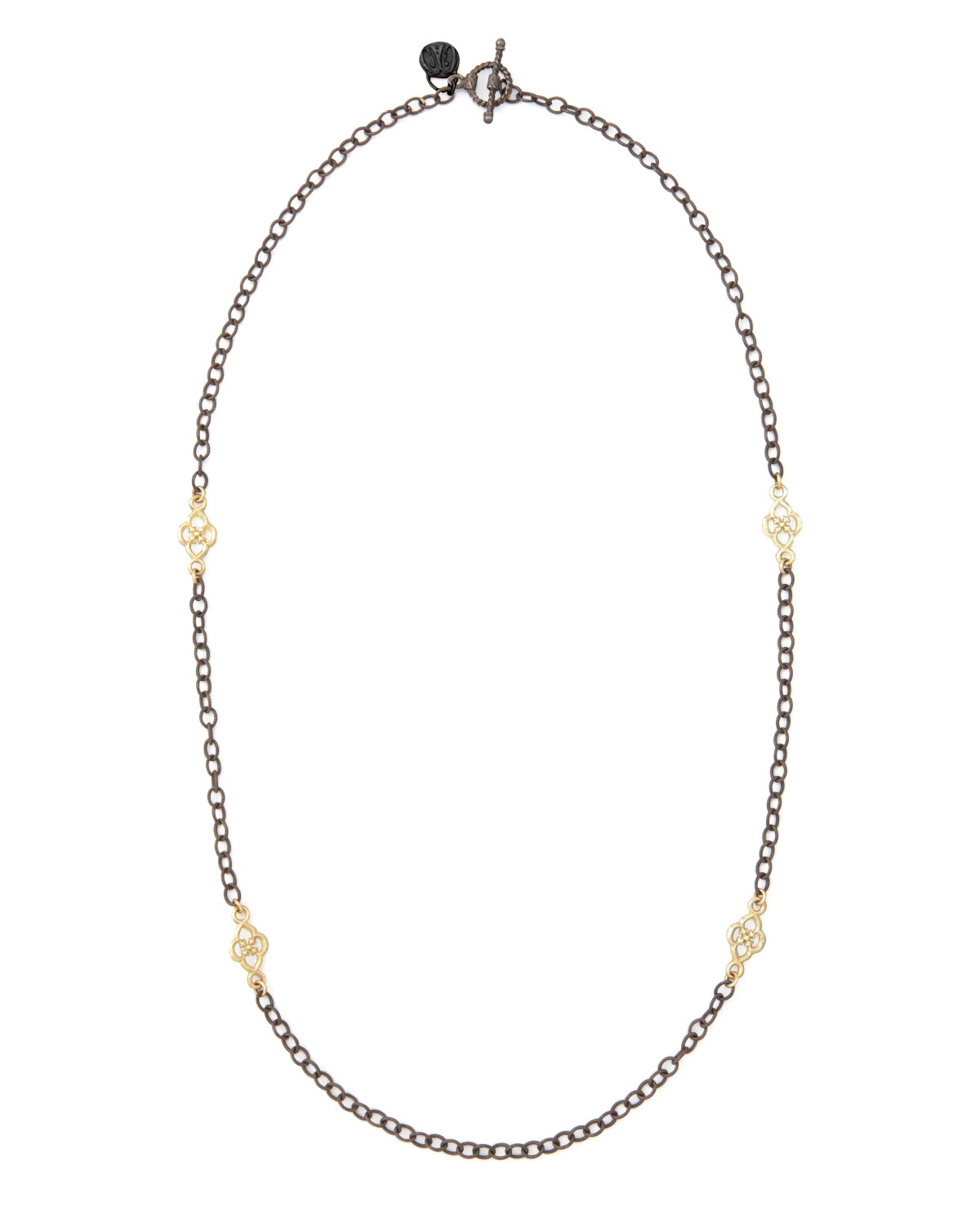 Short Gold-Station Cable-Chain Necklace