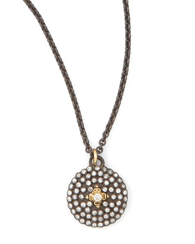 Pave Diamond Shield Pendant Necklace