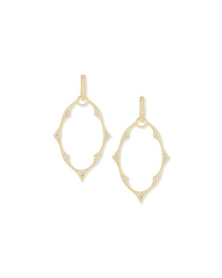 Jude Frances Yellow Gold Moroccan Earring Charm Frames