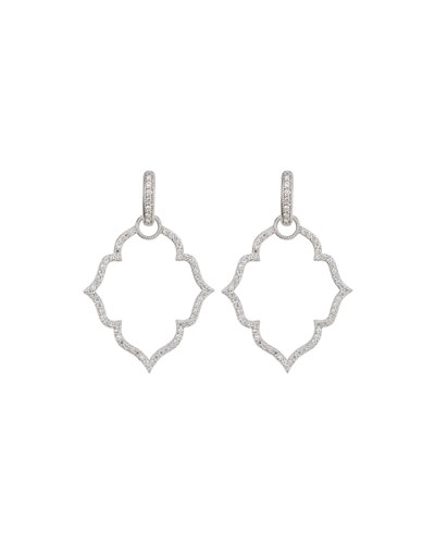 White Gold Michelle Flower Earring Charm Frames