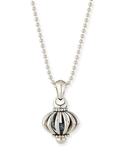 Signature Birdcage Pendant Necklace