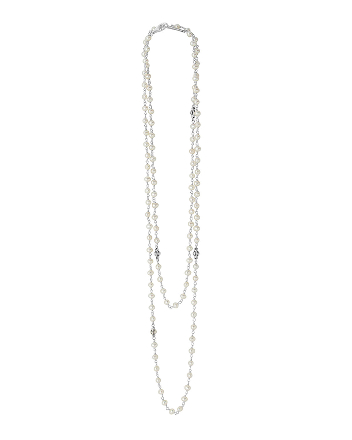 Luna Pearl Necklace with Sterling Silver, 36
