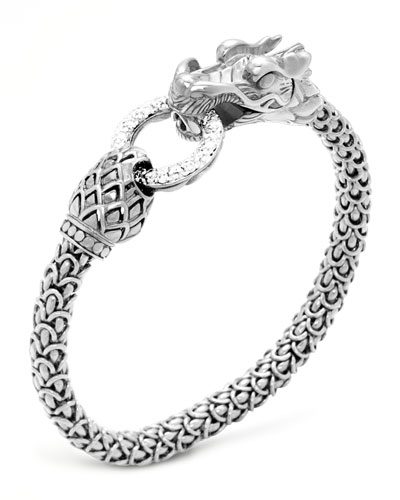 Naga Dragon Diamond-Ring Bracelet