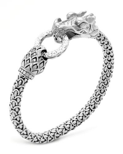 Naga Dragon Diamond-Ring Bracelet