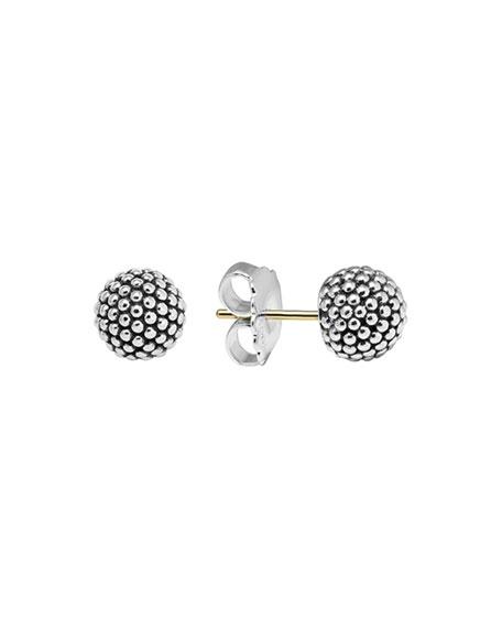 Lagos Silver Columbus Circle Stud Earrings