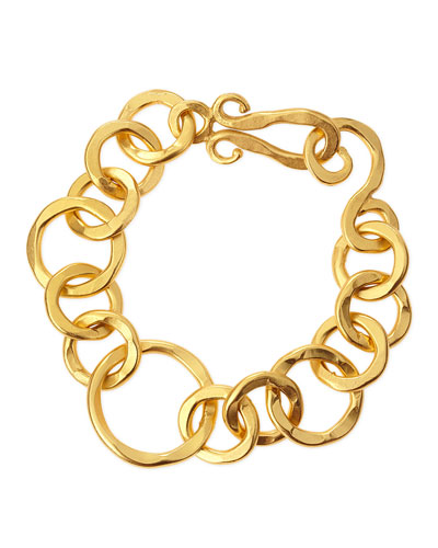 Coronation 24k Gold Plate Large Bracelet