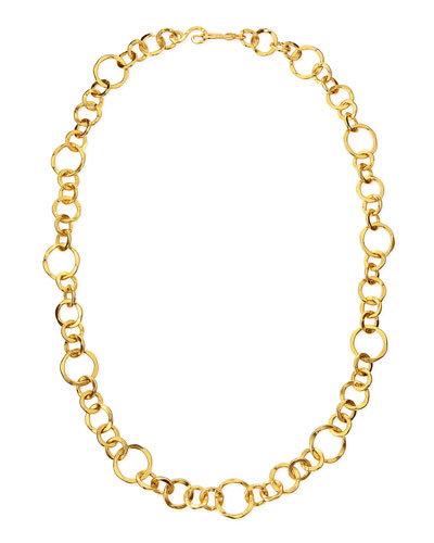 Coronation 24k Gold Plate Large Necklace, 36