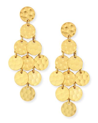24k Gold-Plated Shimmer Cascade Earrings