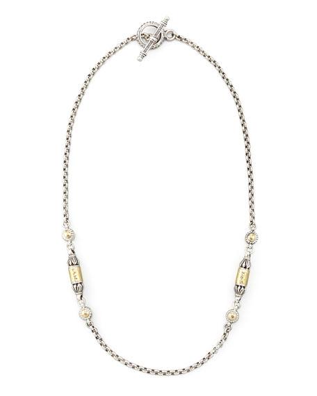 """Konstantino Gold Bullet-Station Necklace, 18""""L"""