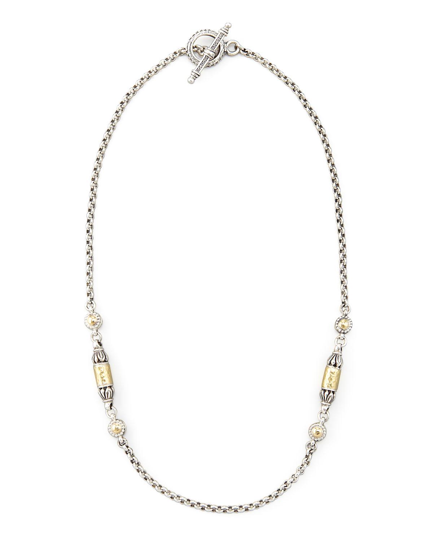 Gold Bullet-Station Necklace