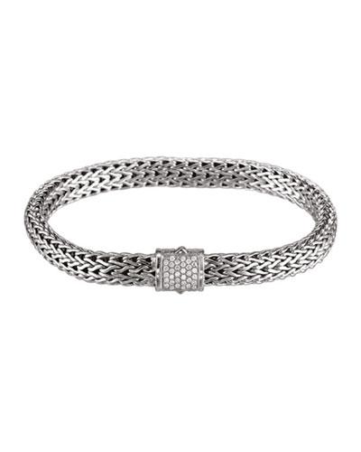 White Pave Diamond Bracelet
