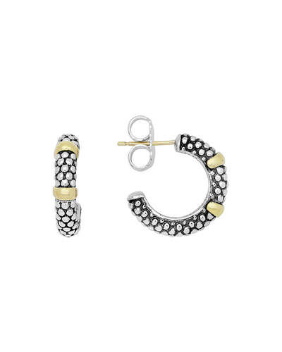Lagos 25mm 18K Gold Caviar Hoop Earrings wAfCRE9e1W
