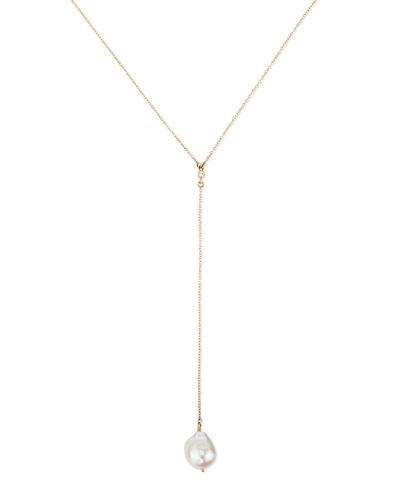 Mizuki 14k Double Petal Pearl Pendant Necklace QfenDbR