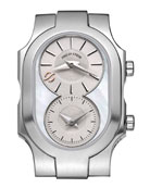 Small Swiss Signature Watch Head with Double Mother-of-Pearl Dial