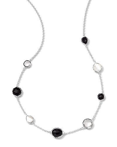 Sterling Silver Wonderland Mini Gelato Short Station Necklace in Astaire, ...