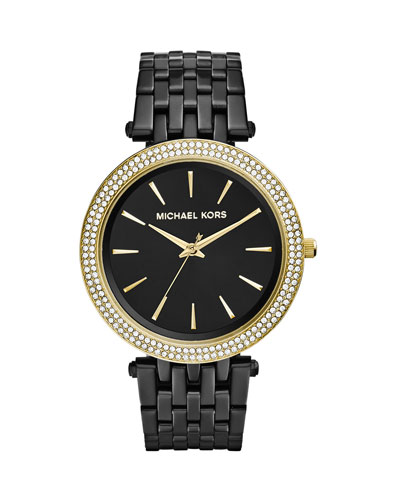 Black Stainless Steel Golden Darci Watch