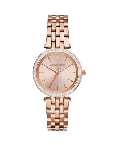 Mini Darci Rose Golden Stainless Steel Glitz Watch