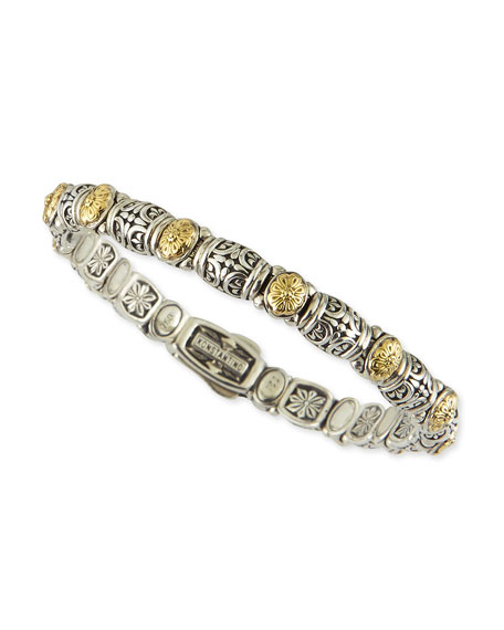Konstantino Sterling Silver/18k Gold Dotted Clasp Bracelet