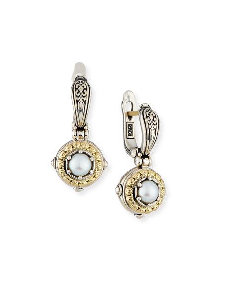 Konstantino Silver/Gold Pearl Drop Earrings