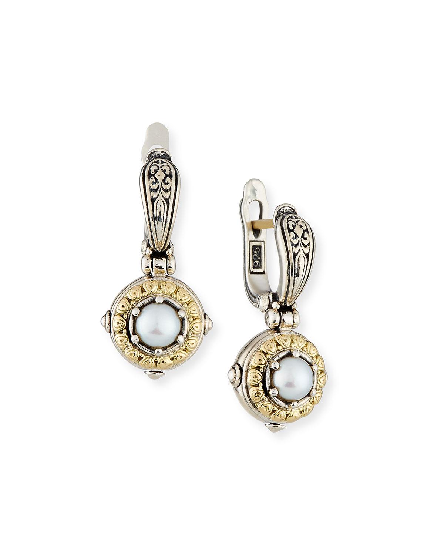 Silver/Gold Pearl Drop Earrings