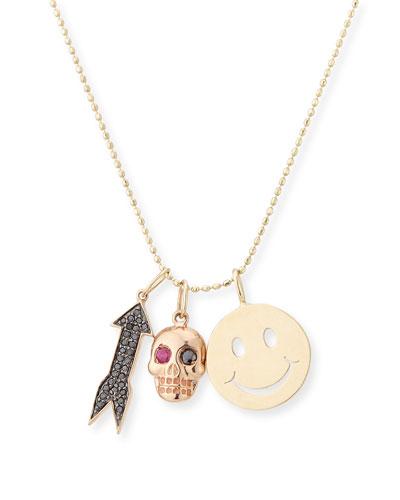 Happy Trio Charm Necklace